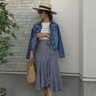 cottonギンガムチェックデザインスカート