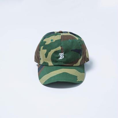B LOGO  CAMOUFLAGE  CAP
