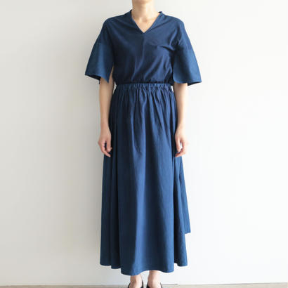 COSMIC WONDER /うみ羽衣有機栽培綿のデイドレス(NATURAL INDIGO/lady's)