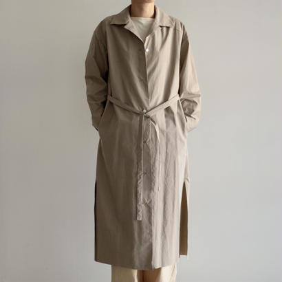 AURALEE / SELVEDGE WEATHER CLOTH LONGSHIRT DRESS (BEIGE/lady's)