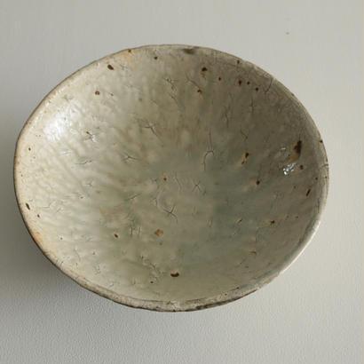 尾形アツシ/粉引特大鉢(薪窯)