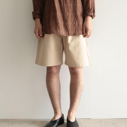 AURALEE /WASHED FINX LIGHT CHINO WIDE SHORTS( IVORY/men's)