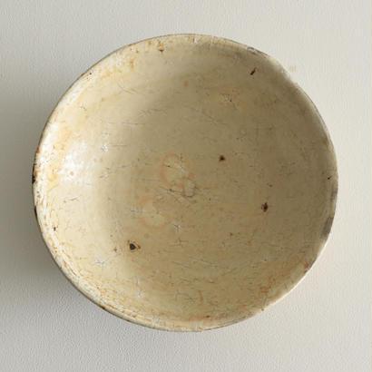 尾形アツシ/粉引8寸大鉢(薪窯)