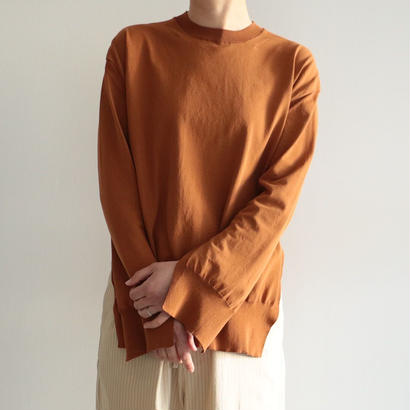 AURALEE / SUPER HARD TWIST KNIT P/O(CAMEL BROWN/lady's)