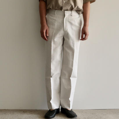 AURALEE /FINX LINEN OX SLACKS(WHITE_CHAMBRAY/men's)
