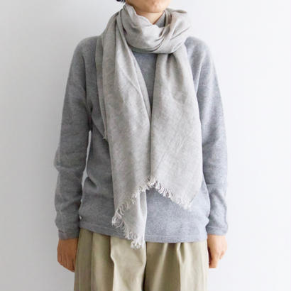 Itoi Collection by Yuri Park / KIYAカシミヤリネンのストール(Merange Light Gray)