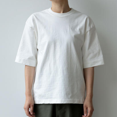 AURALEE / STAND-UP TEE(WHITE/lady's)