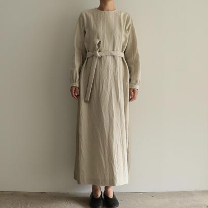 COSMIC WONDER / ウールリネンバックギャザードレス(NATURAL)