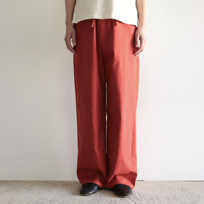 AURALEE /WASHED FINX TWILL EASY WIDE PANTS (RED/lady's)
