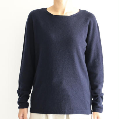 Itoi Collection by Yuri Park / YUZUカシミヤクルーネックニット(navy)