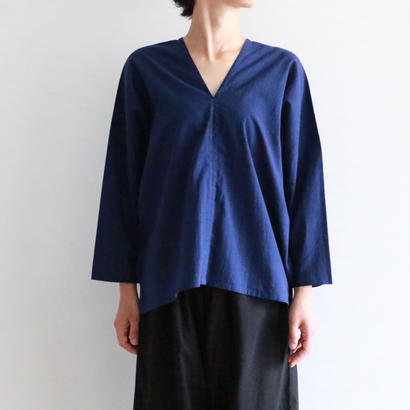 iroiro/NS Cotton Karen Shirts -Long Sleeve-(navy)