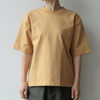 AURALEE / STAND-UP TEE(CAMEL YELLOW/lady's)