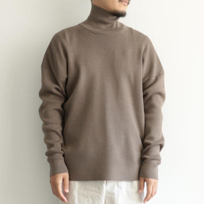 AURALEE / SUPER FINE WOOL SKI KNIT TURTLE  NECK P/O(men's/GRAY BEIGE)