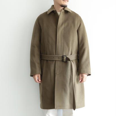 AURALEE / BEAVER MELTON SOUTIEN COLLAR COAT(men's/OLIVE BROWN)