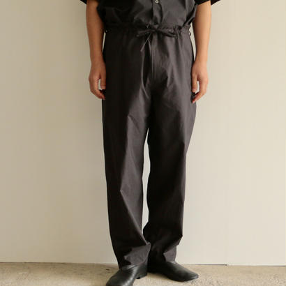 AURALEE /SELVEDGE WEATHER CLOTH EASY PANTS( INK BLACK/men's)