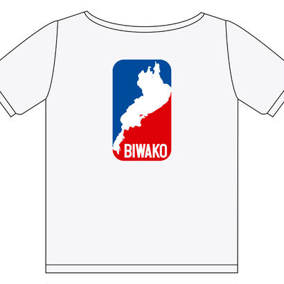 琵琶湖 トリコロール Tシャツ 5.6オンス