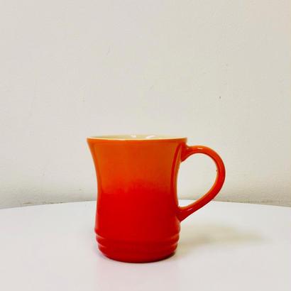 USED: ル・クルーゼ マグカップ M オレンジ/Le Creuset