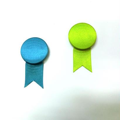 サテンのメダルブローチ 2コset/Rebaba
