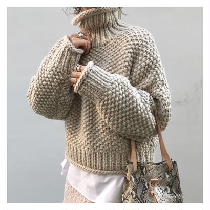 middle turtle knit