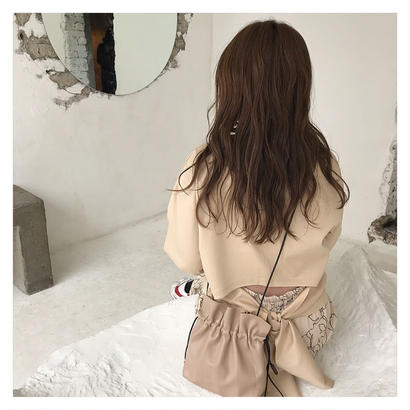 [即納] back ribbon tops