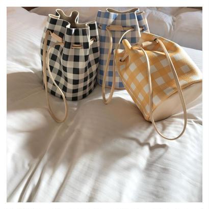 check巾着bag (3color)