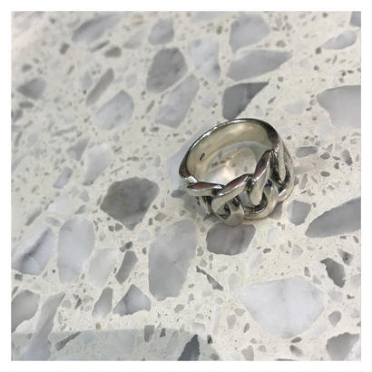 [silver925] chain semiwide ring /4月下旬発送