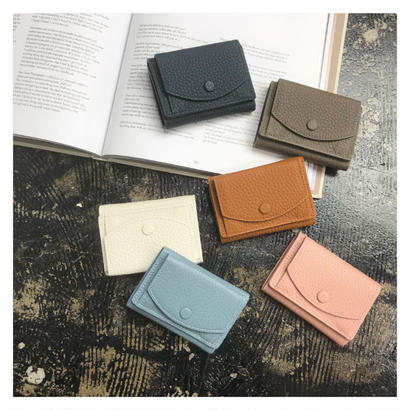 cow leather mini wallet (6color)