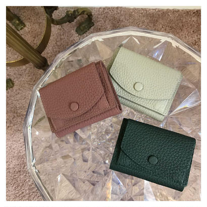 cow leather mini wallet (new color)