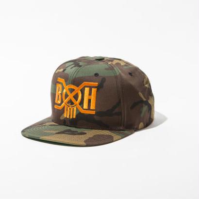 BxH Logo Camo Snap Back Cap