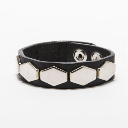 BxH Hexagon Studs Wrist Band