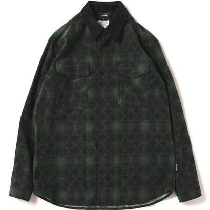 【APPLEBUM】Ombre Check Nel Shirt [Green]