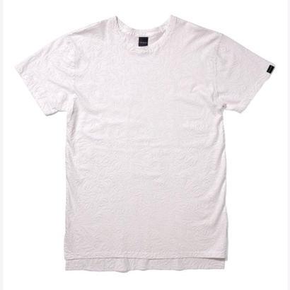 【APPLEBUM】Botanical Emboss Long T-shirt [White]