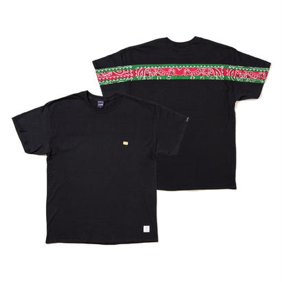【APPLEBUM】PLAY for APPLEBUM PAISLEY BACK LINE TEE [Black]