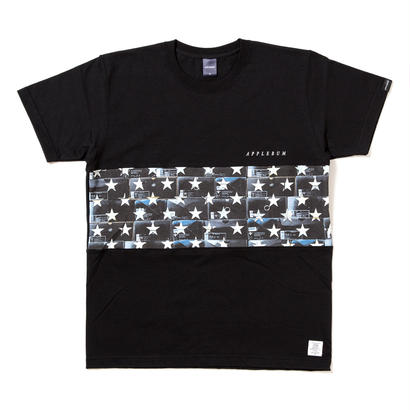 "【APPLEBUM】""Black Kicks Box Stars"" Mix T-shirt [Black]"