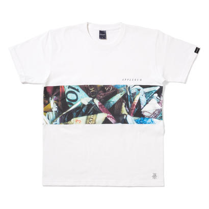 "【APPLEBUM】""Dirty Money"" Mix T-shirt [White]"