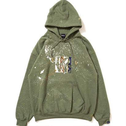 "【APPLEBUM】PLAY for APPLEBUM ""SPLASH LOVE"" Hoody [Olive]"