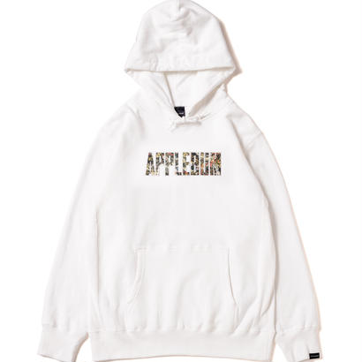【APPLEBUM】Action Painting Sweat Parka [White]