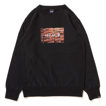 "【APPLEBUM】""Orange Box"" Crew Sweat [Black]"