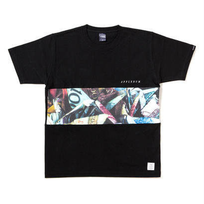 "【APPLEBUM】""Dirty Money"" Mix T-shirt [Black]"