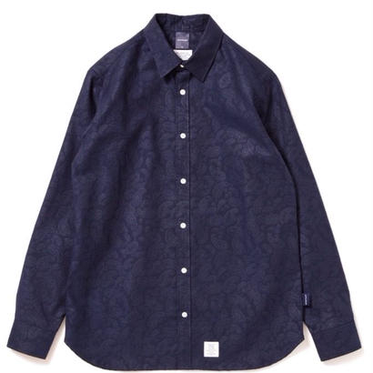 【APPLEBUM】Paisley Emboss Shirt [Navy]