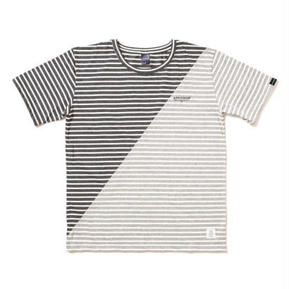 【APPLEBUM】Mix Border T-shirt [D.Gray/L.Gray]