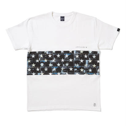 "【APPLEBUM】""Black Kicks Box Stars"" Mix T-shirt [White]"