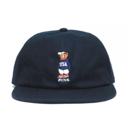 【INTERBREED】USA BEAR EMBROIDERED BALL CAP(NAVY)