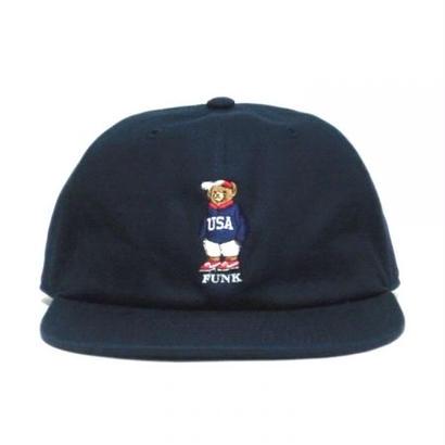 【INTERBREED】USA BEAR EMBROIDERED BALL CAP(NAVY)