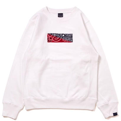 【APPLEBUM】Bandanna Crew Sweat [White]
