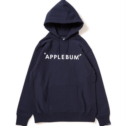【APPLEBUM】Studded Logo Sweat Parka [Navy]