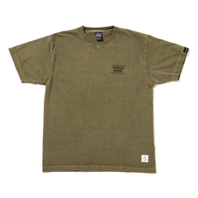 "【APPLEBUM】""Chalk Logo"" Pigment T-shirt [Olive]"
