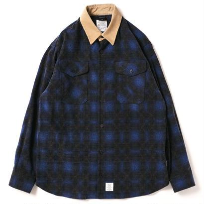 【APPLEBUM】Ombre Check Nel Shirt [Blue]