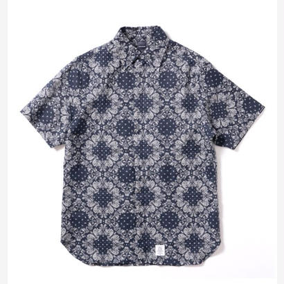 【APPLEBUM】Linen Paisley SS Shirt [Navy]