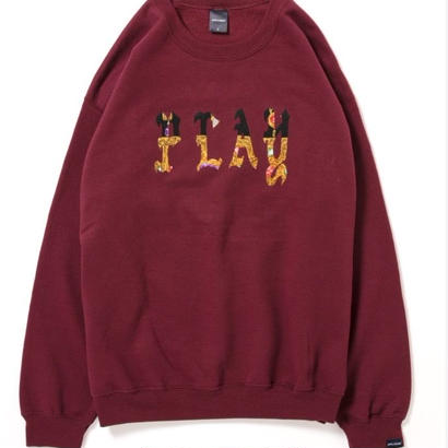 "【APPLEBUM】PLAY for APPLEBUM ""NY""Crew Sweat [Burgundy]"
